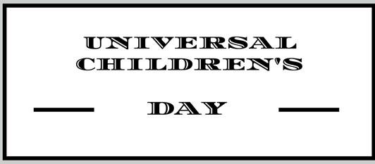 Universal Children's Days